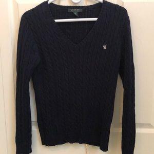 Navy Ralph Lauren cable knit sweater
